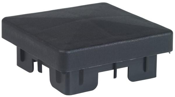 Kappen, Kunststoff schwarz 60x60mm