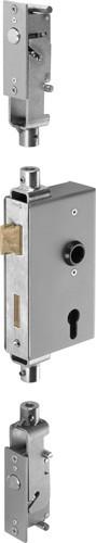 Schlossgehäuse 40mm mit Mehrfachverrriegelung vertikal