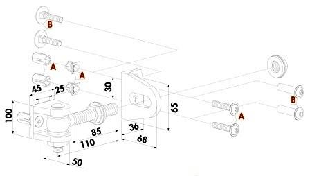 BOLTON 4D Torband M16 zum Anschrauben, moosgrün beschichtet