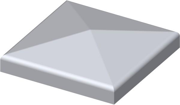 Quadratische Kappe mit Rand 80x80mm, blank
