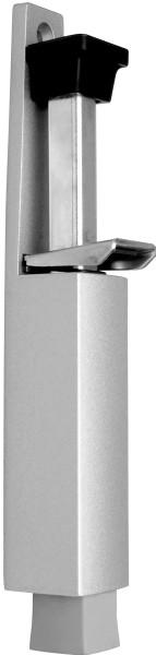 Türfeststeller, Hub 60mm, silber lackiert