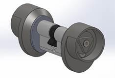 Dreikantzylinder, beidseitig, 17mm Kantenlänge