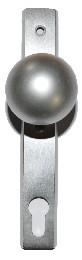 Gerader Kugelknopf, drehbar auf Langschild,72er