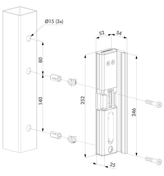 """Elektrischer Türöffner """"Modulec"""" mossgrün RAL 6005"""