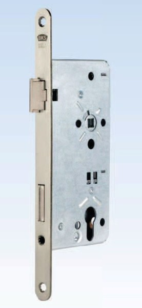Haustürschloss, D 65mm, Stulp 24mm, DIN Links