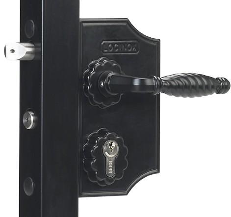 Ziergitterschloss, groß, 60-80mm, schwarz