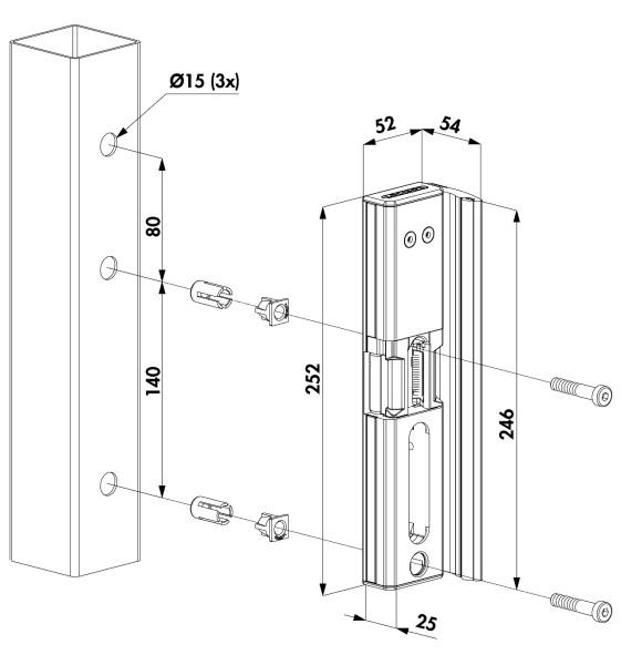"""Elektrischer Türöffner Modulec, """"ALUM""""-silber"""