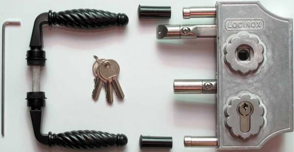 Ziergitter-Anschraubschloss, 30-50mm, silber