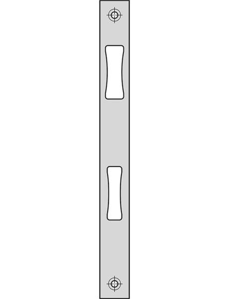 Flachschließblech 245x24x3mm, Edelstahl SSF