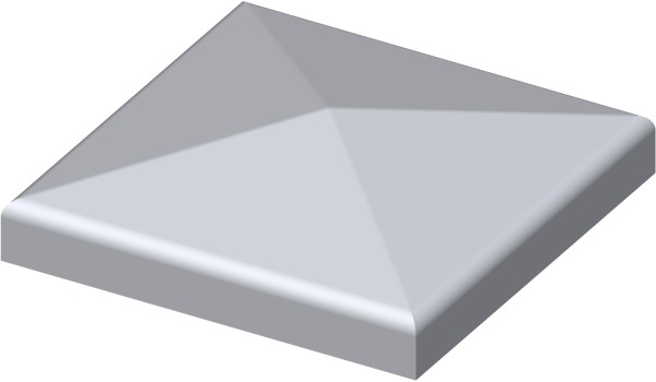 Quadratische Kappe mit Rand 40x40mm, blank