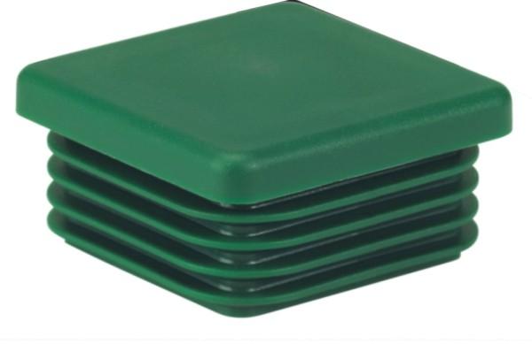Kappen, Kunststoff, grün, 40x40mm